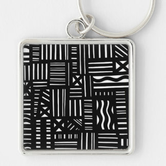 Right Nice Zeal Delightful Silver-Colored Square Keychain