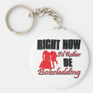 Right now I'd rather be bob sledding Basic Round Button Keychain