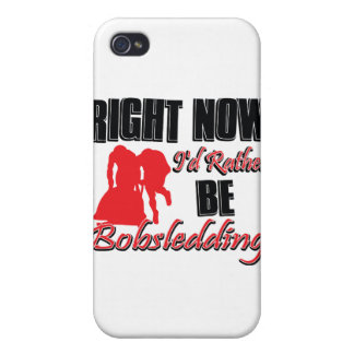 Right now I'd rather be bob sledding iPhone 4/4S Cover