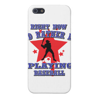 Right Now I'd Rather Be Playing Baseball iPhone 5 Cover