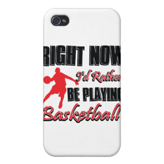 Right now I'd rather be playing basketball iPhone 4/4S Cases