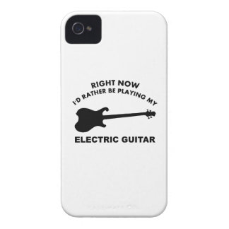 Right now I'd rather be playing ELECTRIC GUITAR iPhone 4 Case-Mate Case