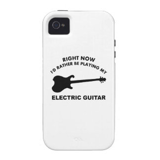 Right now I'd rather be playing ELECTRIC GUITAR iPhone 4 Cases