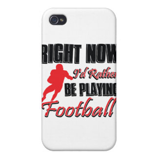 Right now I'd rather be playing football iPhone 4/4S Cover