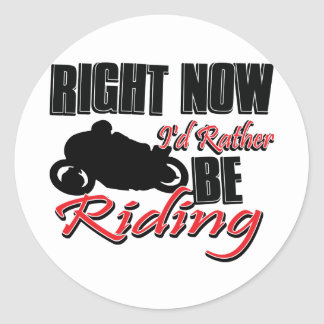 Right now I'd rather be riding my Bike Sticker