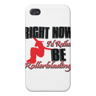 Right now I'd rather be roller blading Case For iPhone 4