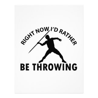 Right now I'd rather Javelin throw gift items Personalized Letterhead