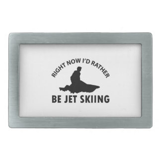 Right now I'd rather Jet Skiing gift items Rectangular Belt Buckles
