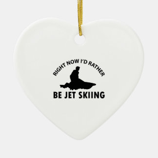 Right now I'd rather Jet Skiing gift items Ceramic Ornament