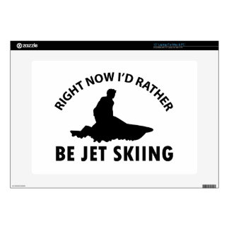 """Right now I'd rather Jet Skiing gift items 15"""" Laptop Decal"""