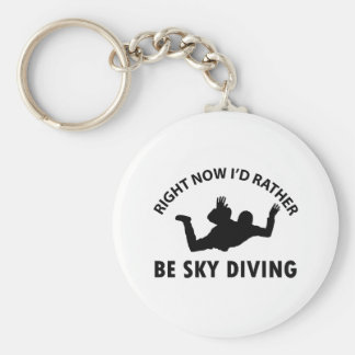 Right now I'd rather Sky diving gift items Basic Round Button Keychain