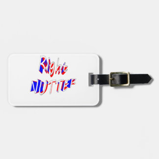 right nutter luggage tag