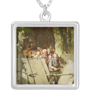 Right of Way Square Pendant Necklace