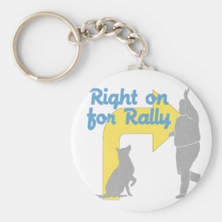 Right On For Rally Basic Round Button Keychain