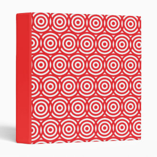 Right on Target Brilliant Red and White 3 Ring Binder