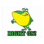 right on thumbs up froggy post cards