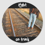 right on track stickers