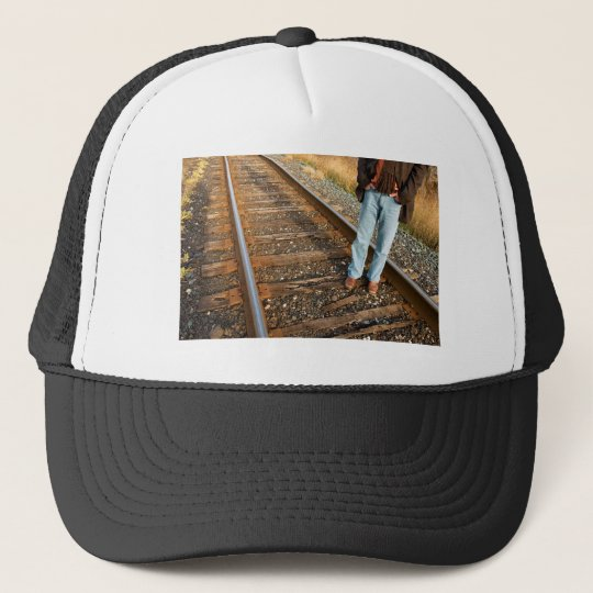 right on track trucker hat