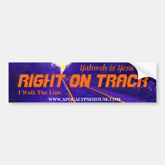 RIGHT ON TRACK, Yahweh is Yesu Bumper Sticker