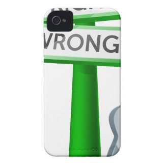 Right or Wrong concept iPhone 4 Covers