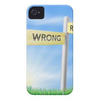Right or wrong decision sign iPhone 4 cases