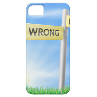 Right or wrong decision sign iPhone 5 case