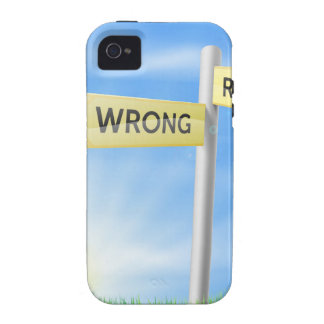 Right or wrong decision sign iPhone 4/4S covers