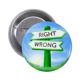 Right or wrong sign in field buttons