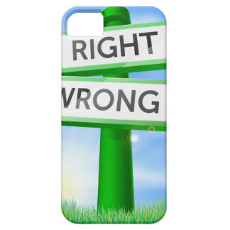 Right or wrong sign in field case for the iPhone 5
