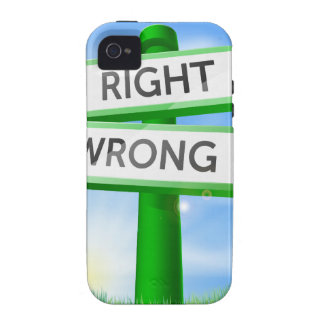 Right or wrong sign in field Case-Mate iPhone 4 covers