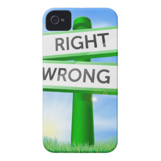 Right or wrong sign in field iPhone 4 cover