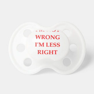 right BooginHead pacifier