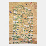 Right Part of the Tree of Life by Gustav Klimt Towels