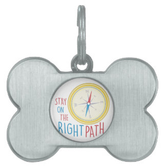 Right Path Pet Name Tag
