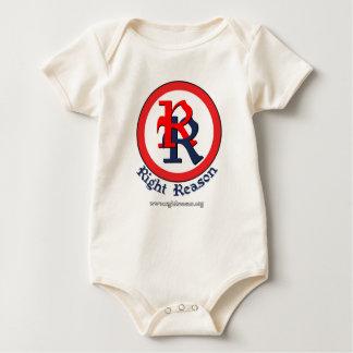 Right Reason logo Baby Bodysuits
