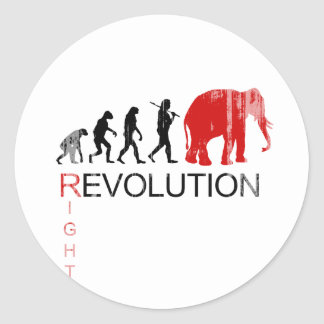 RIGHT REVOLUTION Faded.png Classic Round Sticker