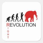 RIGHT REVOLUTION SQUARE STICKERS
