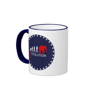 RIGHT REVOLUTION (white) Ringer Coffee Mug