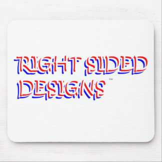 RIGHT SIDED DESIGNS logo Mouse Pad