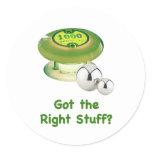 Right Stuff Pinball Classic Round Sticker