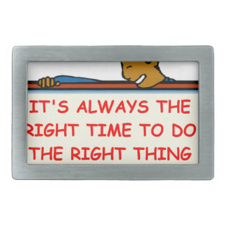 right thing belt buckle