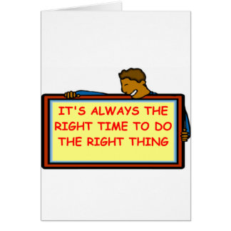 right time greeting card