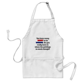 Right To Be Wrong Aprons