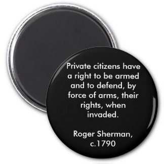 Right to Bear Arms 2 Inch Round Magnet