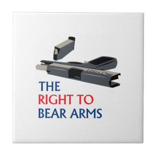 Right To Bear Arms Ceramic Tile