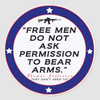 Right to Bear Arms Classic Round Sticker