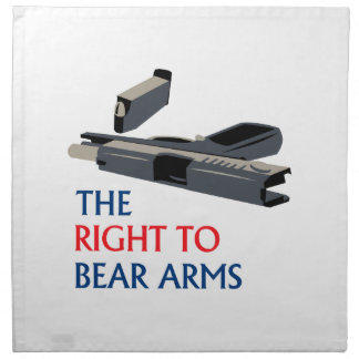 Right To Bear Arms Cloth Napkin