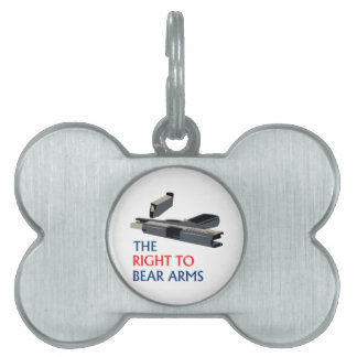 Right To Bear Arms Pet Name Tag