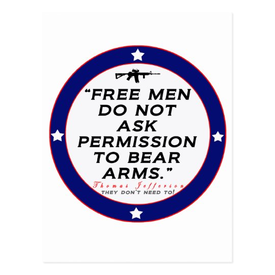 Right to Bear Arms Postcard