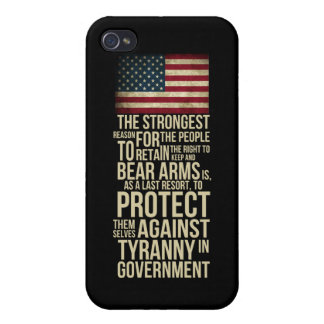 Right To Bear Arms - Thomas Jefferson Quotes iPhone 4 Cover